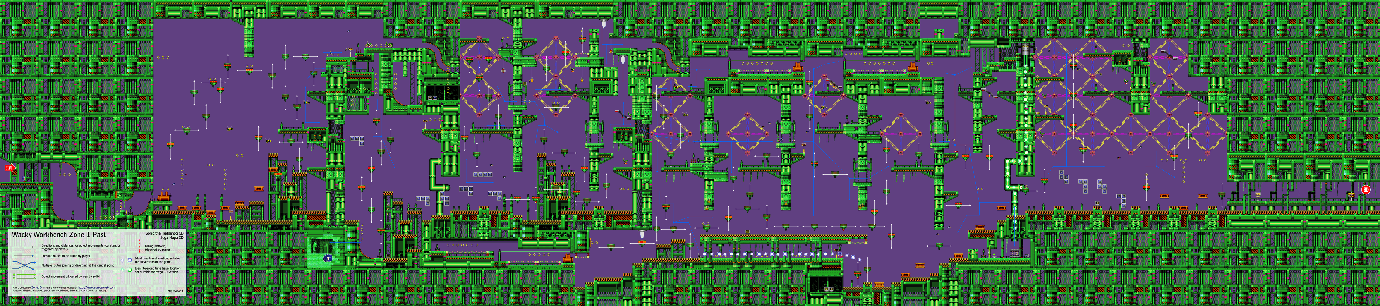 Is there a map for all the Past robot generators? - Sonic CD